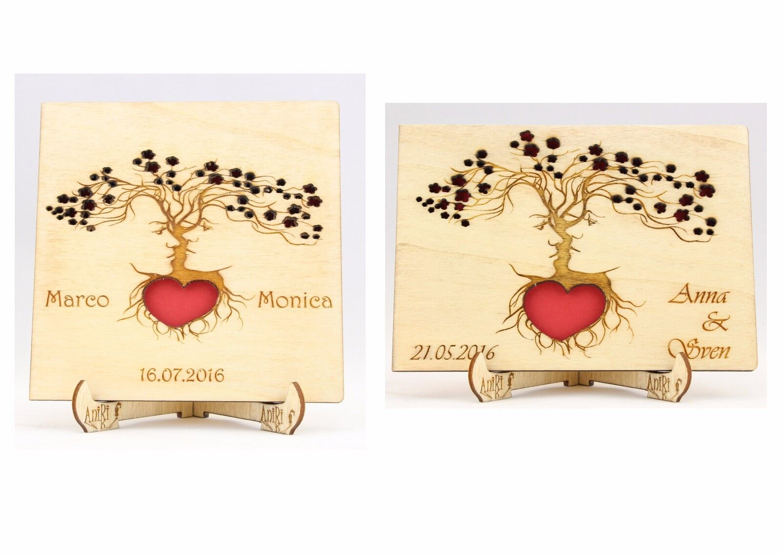 Personalisiert Gästebuch, Hochzeit, Holzgästebuch, Wedding, Liebe, Holz, Gäste