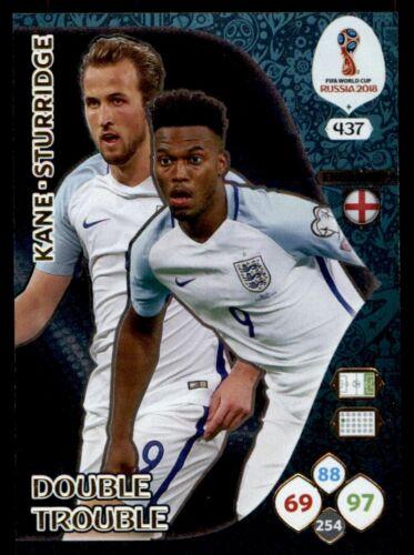 Kane//Sturridge England Double Trouble #437 Panini World Cup 2018 Adrenalyn XL