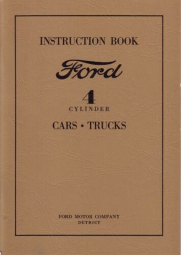 1932 Ford 4 Cylinder Car Truck Owners /& Shop Manual Instruction Book Service OEM