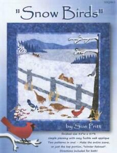 Snow Birds 2 in 1 Winter Sue Pritt Sweet Season Quilt Pattern SSQ063
