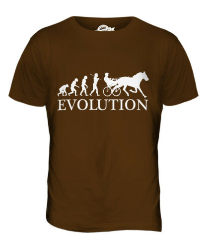 HORSE AND CART RACING EVOLUTION OF MAN MENS T-SHIRT TEE TOP GIFT