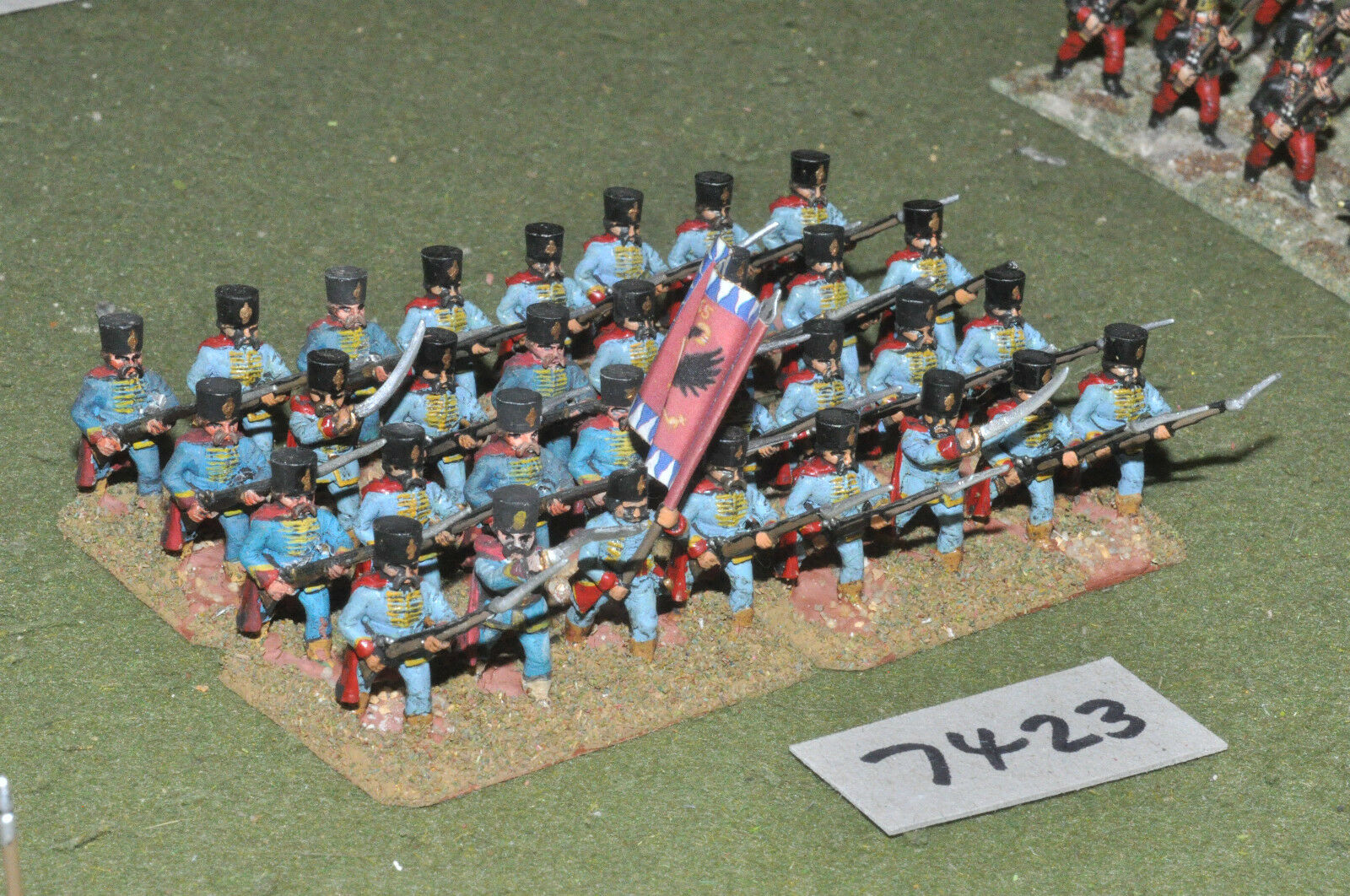 25mm 7YW   Austrian - seven years war grenzers 32 figures metal - inf (7423)