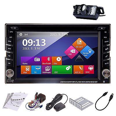 "2 Din Auto Radio 6.2"" Car CD DVD Nav GPS Car dvd Player Bluetooth with Camera"