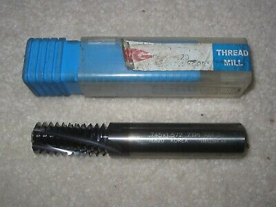 TiALN COATED M12x1.75 CARBIDE THREAD MILL BRAND NEW
