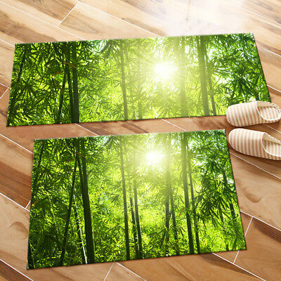 Sunlight Green Bamboo Forest Scenic Area Rugs Bedroom Rug Living Room Floor  Mat | eBay