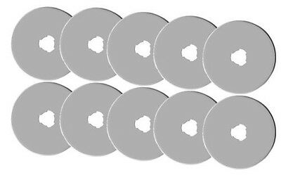 10 pices of 60MM ROTARY CUTTER BLADES fits,Olfa, Fiskars, DRITZ, Clover & more