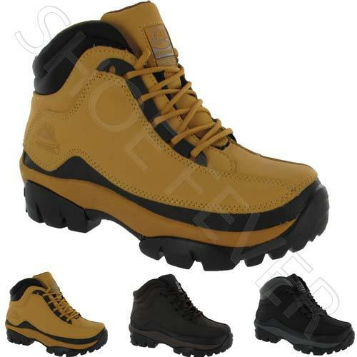 MENS SAFETY BOOTS LEATHER STEEL TOE CAPS ANKLE TRAINERS HIKING BOOTS SHOES SIZE