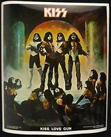 1977 Kiss Love Gun Putons Gene Simmons Peter Criss Ace Frehley Paul Stanley 8x10