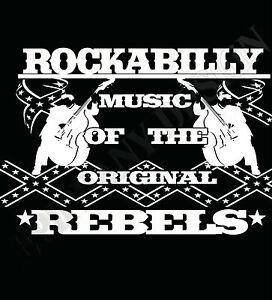 Rockabilly-Camiseta-Rebels-ROCK-amp-Roll-Anos-50-hombre-o-mujer-ROCKEROS-greasers