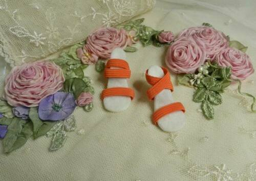 "Cissy /& Others #2 Coral//White High Heel Doll Shoes for 20/"" Miss Revlon"