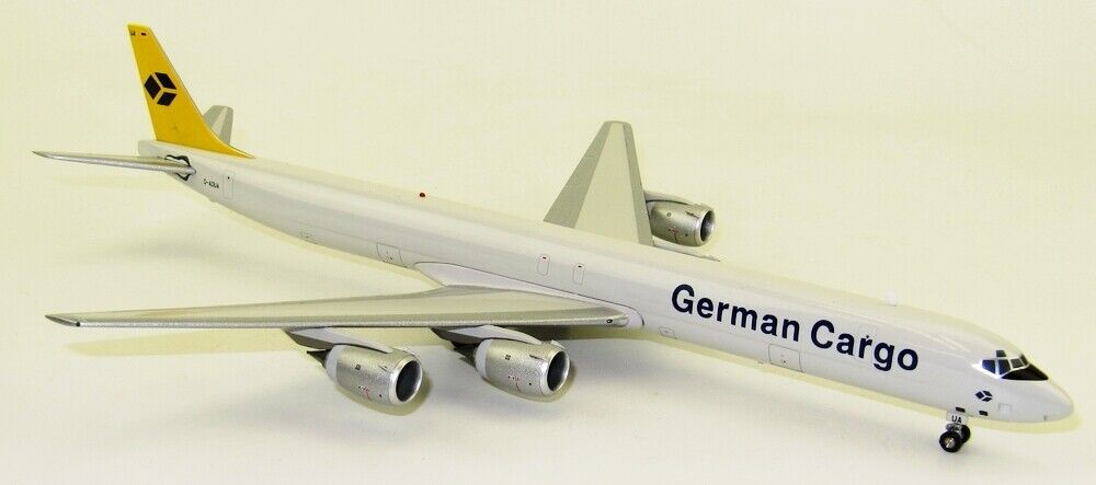 INFLIGHT 200 BDC8731017C 1 200 GERMAN CARGO DOUGLAS DC-8-73 CF D-ADUA WITH STAND