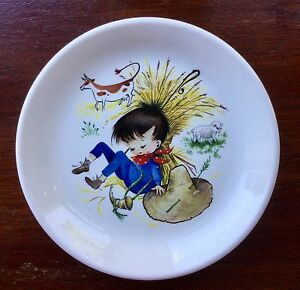 Biltons-Nursery-Rhyme-039-Little-Boy-Blue-039-Decorative-Plate-6-5-034-Diameter