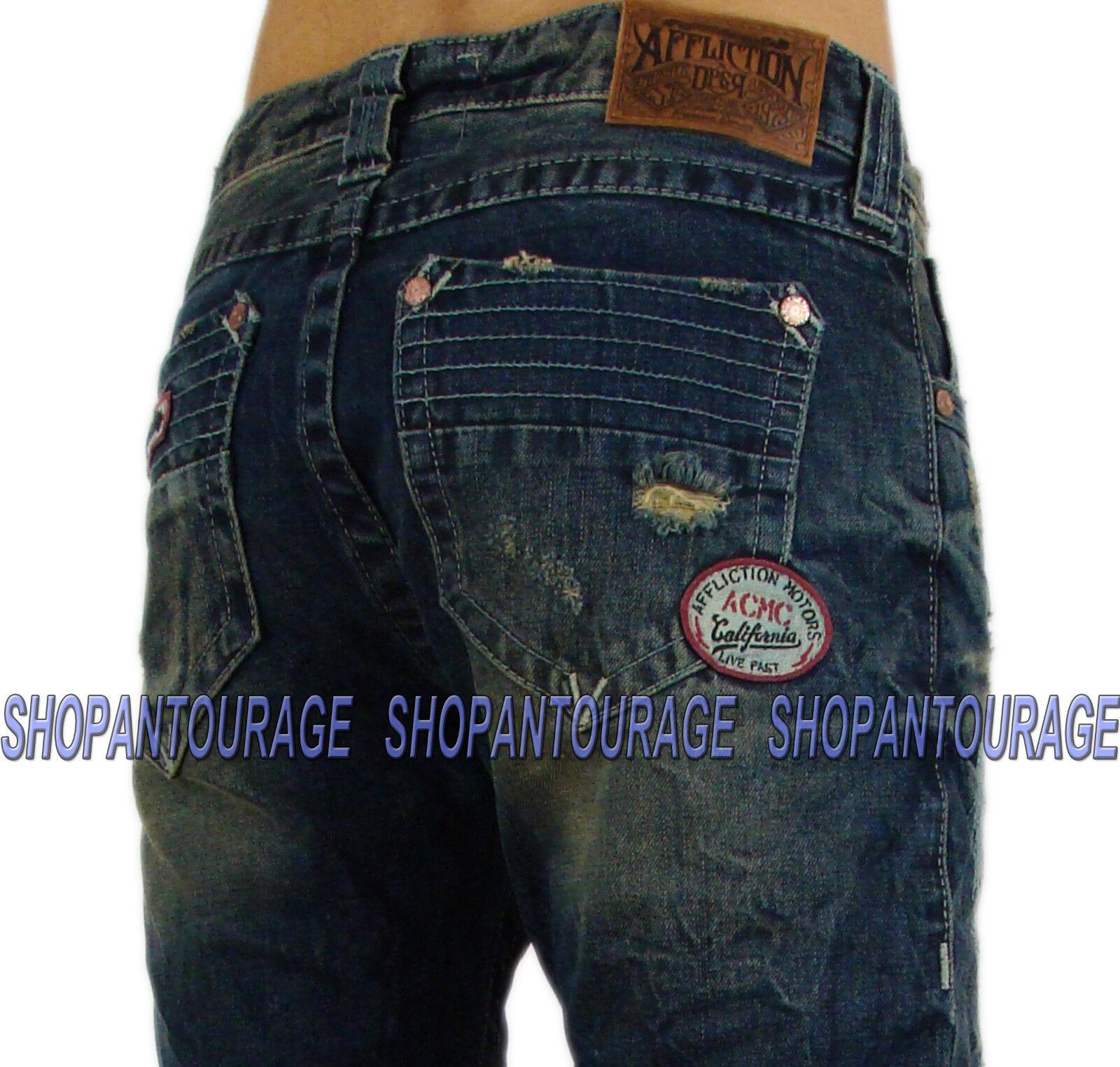 Affliction Ace Brixton Franklin 110ss074 hombres  `s Slim Straight DPSR Denim  compra en línea hoy