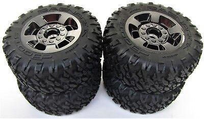 NEW Arrma Big Rock 4x4 3s BLX dBoots Ragnarok Tires /& Black Chrome 14mm Wheels