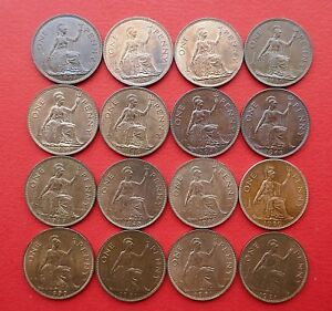 British-1937-to-1951-George-VI-Penny-Better-grades-Choose-your-Date