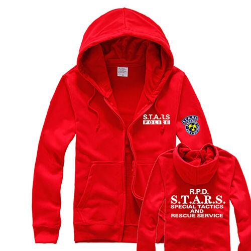 Resident Evil RPD STARS Raccoon Hoody Jacket Sweater Hoodie Cosplay Uniform Hot