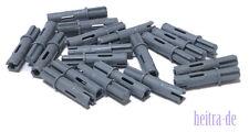 11214 NEUWARE 20 x Achs Pin dunkelgrau 3 Noppen mit Achse 1L LEGO Technik