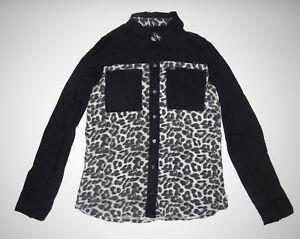 New-Hurley-Womens-Wilson-Novelty-Long-Sleeve-Woven-Shirt-Top-Blouse-Small