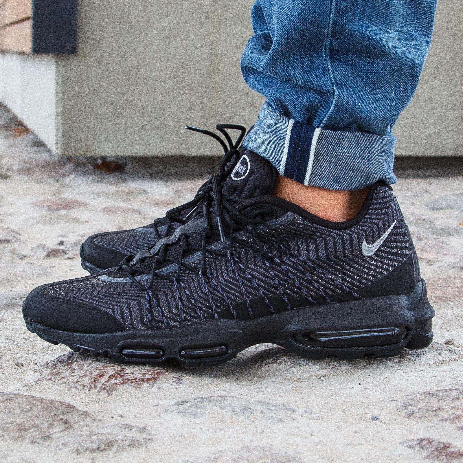 Nike air max scarpe 95 ultra jcrd Uomo scarpe max sz 9 749771-001 nero / argento / grigio scuro a3af81