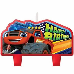 4-Blaze-amp-The-Monster-Machines-Children-039-s-Party-Birthday-Cake-Candles