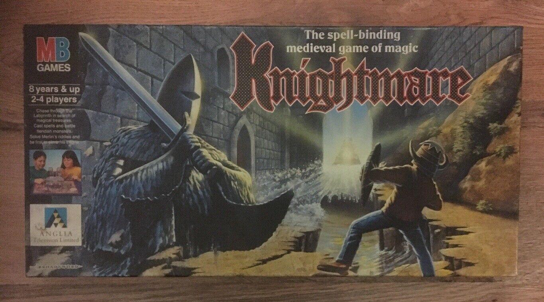 KNIGHTMARE Retro BOARD GAME MB 1991 ANGLIA TV SHOW - 100% Complete VGC