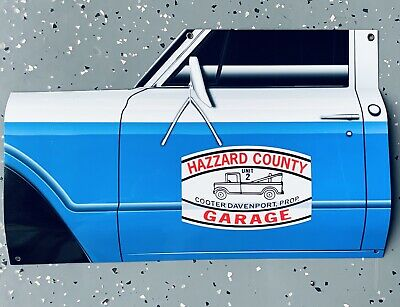 Curved Dodge Charger Dukes Of Hazzard General Lee Door 3D Sign WOW