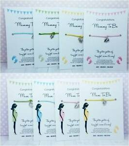 Wishing-Bracelet-Mum-Mummy-To-Be-BABY-SHOWER-Gift-Girl-Boy-Unisex-Wish