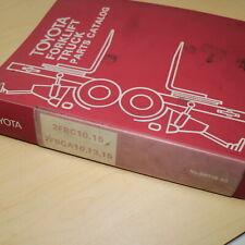 Toyota 2fbc10 2fbc15 2fbca10 2fbca13 2fbca15 Forklift Parts Manual Book Catalog
