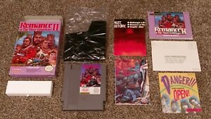 Romance-of-the-Three-Kingdoms-II-2-Nintendo-NES-lot-Box-amp-Manual-Complete-CIB