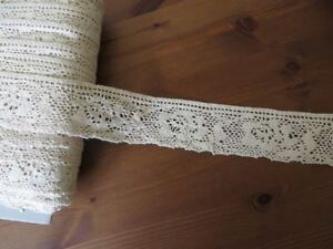 2 Vintage Crochet Trim Lace Edging Fashionable In Style;