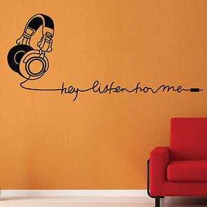 Stilvoll-Kopfhoerer-Wand-Sticker-Wand-Grafik-Wandkunst-Wand-Dekoration