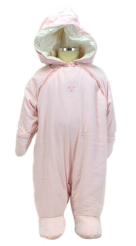 JACADI Girl/'s Seriner Rose Pale Pink Snowsuit Size 6 Months NWT $84