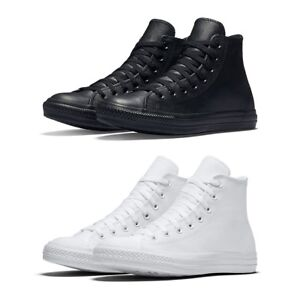New Converse Chuck Taylor All Star Leather High Top Men Shoes Black ... 34070fcdd