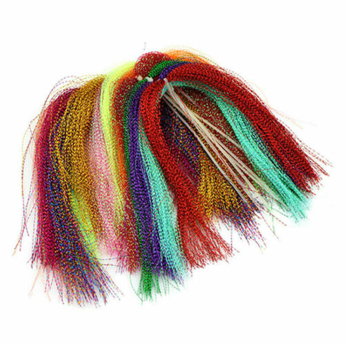 100 root//bundle Holographic Tinsel String Jig Hook Lure T2K4 Material F0D1