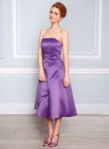 Obligeant Bhs Eve Demoiselle D'honneur Robe Violet Tailles 8, 10, 14, 16, 18, 20-afficher Le Titre D'origine éGouttage