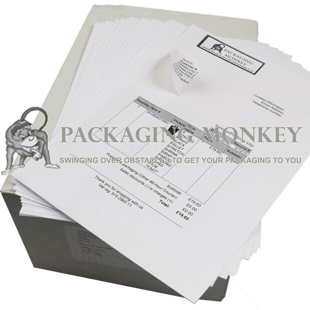 A4 AMAZON INTEGRATED LABELS STICKY ADDRESS POST PACK PAPER INKJET