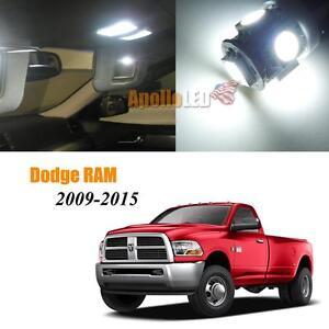 Full White Led Lights Interior Package For 2009 2015 Dodge Ram 1500 2500 3500 Ebay