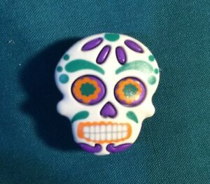 Cute SUGAR SKULLS Purple EYES Day of the Dead Croc Hole Accessories Shoe Charms