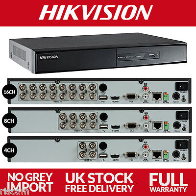 Hikvision 4 8 16 Channel HDTVI CCTV DVR 1080p Full HD Surveillance HD-Turbo 8CH