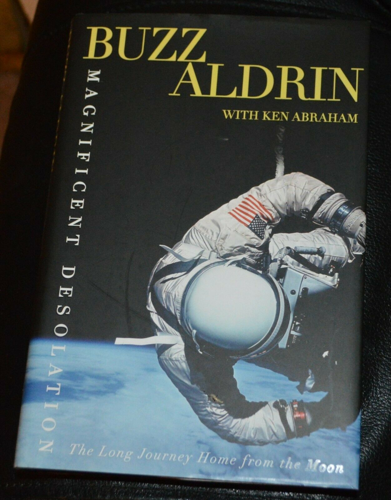 s l1600 - Buzz Aldrin Autographed Signed Hard Cover Book Apollo 11 Astronaut NASA Space