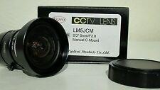 "NEW CCTV LENS KOWA LM5JCM 2/3"" 5MM F2.8 MANUAL C-MOUNT LENS 2 MEGAPIXEL RATED"