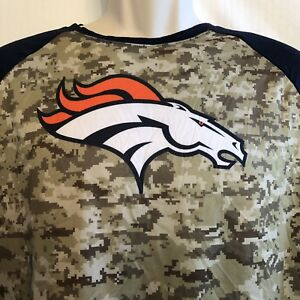 low priced 59cf4 d941e Details about Nike Denver Broncos Camo Pullover Jersey Youth XXL Salute to  Service Green Blue