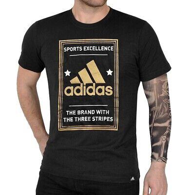 Adidas Qqr Performance Tee T-shirt 3 Str Logo Men Oro/argento Nero Nuovo-mostra Il Titolo Originale Prestazioni Affidabili