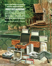 PUBLICITE ADVERTISING 066  1964  radio éléctrophone transistor Ribet-Dejardins