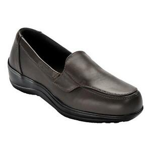 New w/o Box Orthofeet Astoria Leather Slip-On Loafers Brown Size 10/ XW