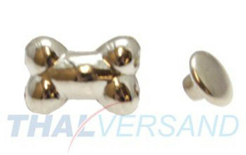 100 unidades huesos remaches decorativos Bone #70 motivo tachuelas cuero con tachuelas zierniete remacha