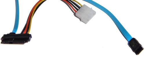 Strom Kabel 7 Pin SATA Serial ATA zu SAS 29 Pin /& 4 Pin Molex HDD SSD Adapter
