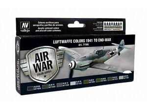 Adroit Luftwaffe Allemand Couleurs 1941-1945 : 8 Brosse à Air Peintures (vallejo 71166) RéTréCissable