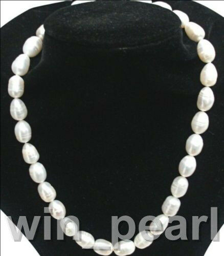 "Stunning Cultured Freshwater Baroque Pearl necklace Large 11-13mm White 20"" AA"
