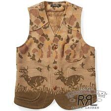 $890 RRL Ralph Lauren Limited Edition Made US 1930 Wool Hunting Vest Jacket-M
